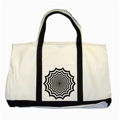 Spider Web Hypnotic Two Tone Tote Bag