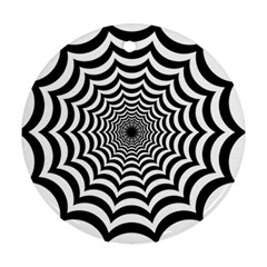 Spider Web Hypnotic Round Ornament (two Sides)