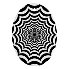 Spider Web Hypnotic Oval Ornament (two Sides)