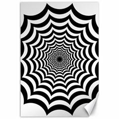 Spider Web Hypnotic Canvas 12  X 18