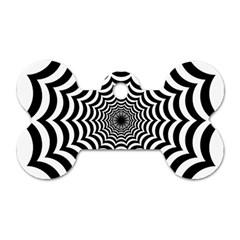 Spider Web Hypnotic Dog Tag Bone (two Sides)