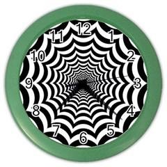 Spider Web Hypnotic Color Wall Clocks