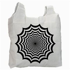 Spider Web Hypnotic Recycle Bag (one Side)