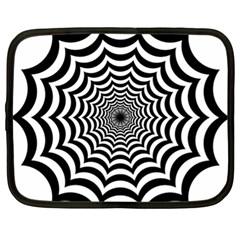 Spider Web Hypnotic Netbook Case (xl)
