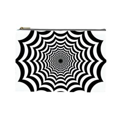 Spider Web Hypnotic Cosmetic Bag (large)