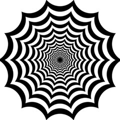 Spider Web Hypnotic Magic Photo Cubes