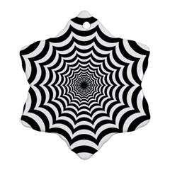 Spider Web Hypnotic Snowflake Ornament (2 Side)