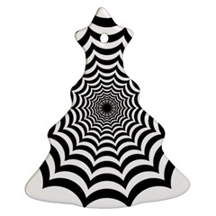 Spider Web Hypnotic Christmas Tree Ornament (2 Sides)