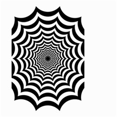 Spider Web Hypnotic Small Garden Flag (two Sides)