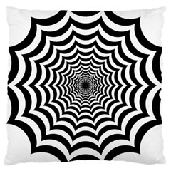 Spider Web Hypnotic Large Cushion Case (one Side)