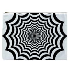 Spider Web Hypnotic Cosmetic Bag (xxl)