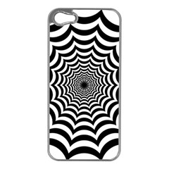 Spider Web Hypnotic Apple Iphone 5 Case (silver)