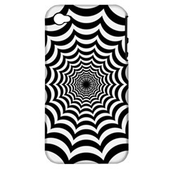 Spider Web Hypnotic Apple Iphone 4/4s Hardshell Case (pc+silicone)