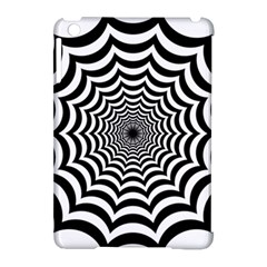 Spider Web Hypnotic Apple Ipad Mini Hardshell Case (compatible With Smart Cover)