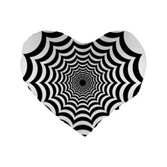 Spider Web Hypnotic Standard 16  Premium Heart Shape Cushions