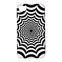 Spider Web Hypnotic Apple Iphone 4/4s Hardshell Case With Stand