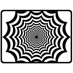 Spider Web Hypnotic Double Sided Fleece Blanket (large)