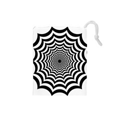 Spider Web Hypnotic Drawstring Pouches (small)