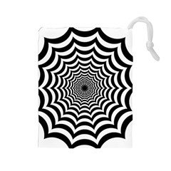 Spider Web Hypnotic Drawstring Pouches (large)