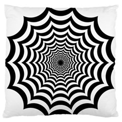 Spider Web Hypnotic Large Flano Cushion Case (Two Sides)