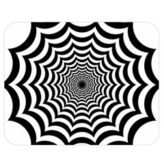 Spider Web Hypnotic Double Sided Flano Blanket (medium)