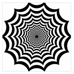Spider Web Hypnotic Large Satin Scarf (square)