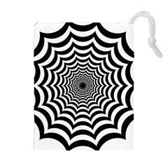 Spider Web Hypnotic Drawstring Pouches (Extra Large)