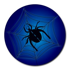 Spider On Web Round Mousepads