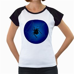 Spider On Web Women s Cap Sleeve T