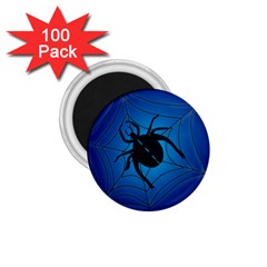 Spider On Web 1 75  Magnets (100 Pack)