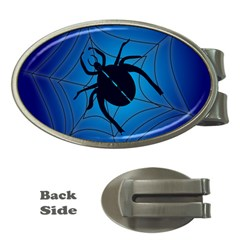 Spider On Web Money Clips (oval)