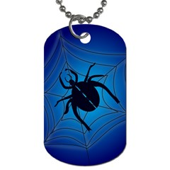 Spider On Web Dog Tag (one Side)
