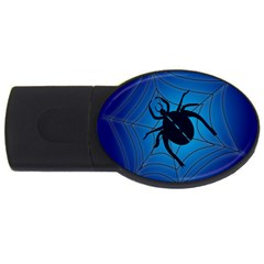 Spider On Web Usb Flash Drive Oval (2 Gb)