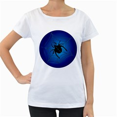Spider On Web Women s Loose Fit T Shirt (white)