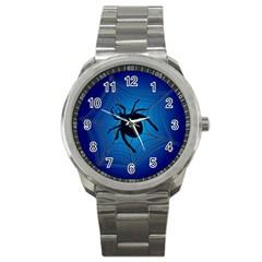Spider On Web Sport Metal Watch