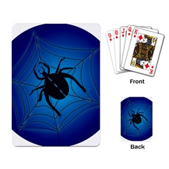 Spider On Web Playing Card
