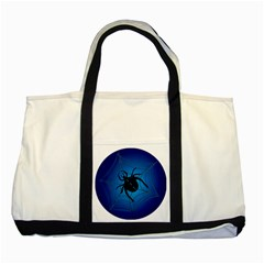 Spider On Web Two Tone Tote Bag
