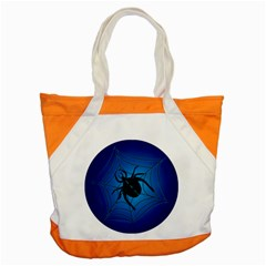 Spider On Web Accent Tote Bag