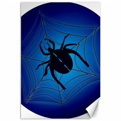 Spider On Web Canvas 12  X 18
