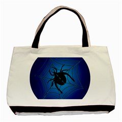 Spider On Web Basic Tote Bag (two Sides)