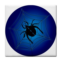 Spider On Web Face Towel
