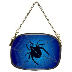 Spider On Web Chain Purses (two Sides)