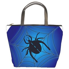Spider On Web Bucket Bags