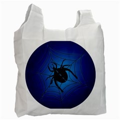 Spider On Web Recycle Bag (two Side)