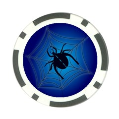 Spider On Web Poker Chip Card Guards (10 Pack)