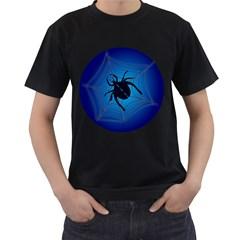 Spider On Web Men s T Shirt (black)