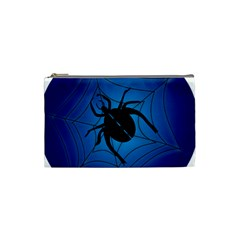 Spider On Web Cosmetic Bag (small)