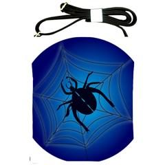 Spider On Web Shoulder Sling Bags