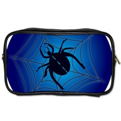 Spider On Web Toiletries Bags 2 Side