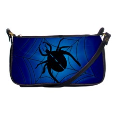 Spider On Web Shoulder Clutch Bags